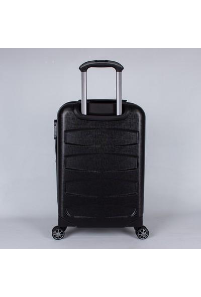 Ehs 5158 Abs Büyük Boy 8 Tekerlek Valiz Siyah
