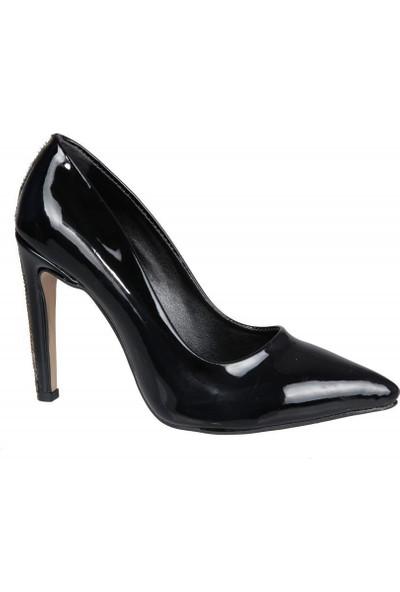 Miss Park Moda K2016/1 Siyah Rugan Kadın Stiletto