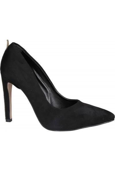 Miss Park Moda K2016/1 Siyah Süet Kadın Stiletto