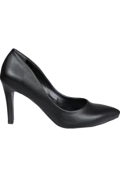 Miss Park Moda K620 Prada Siyah Kadın Stiletto