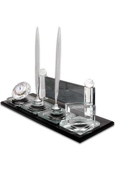 Baskı Merkezi BM502G Kişiye Özel Kristal Masa Isimliği Gümüş