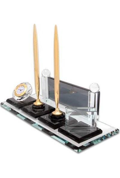 Baskı Merkezi BM501A Kişiye Özel Kristal Masa Isimliği Altın