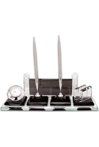 Baskı Merkezi BM501G Kişiye Özel Kristal Masa Isimliği Gümüş