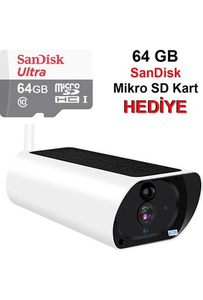 Greentech GT510 2MP Wifi Dış Mekan Solar IP Kamera
