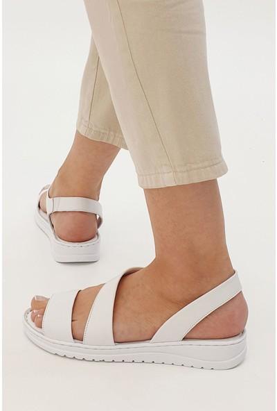Marjin Caska Düz Sandalet