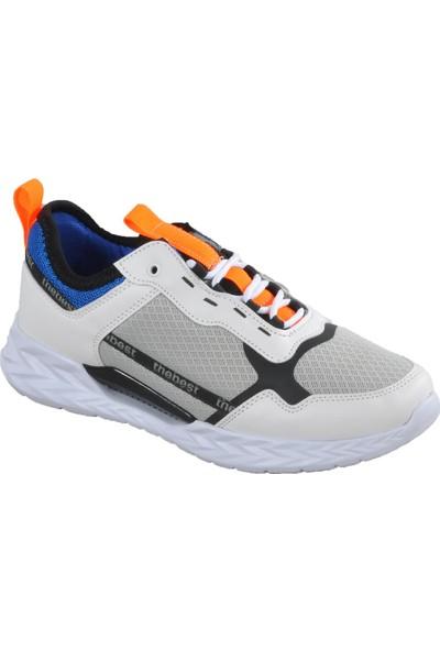 Walkway 4052 Beyaz - Oranj Erkek Spor Ayakkabı