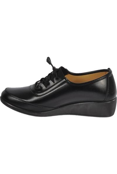Wanetti 344 Siyah Kadın Günlük Ayakkabı