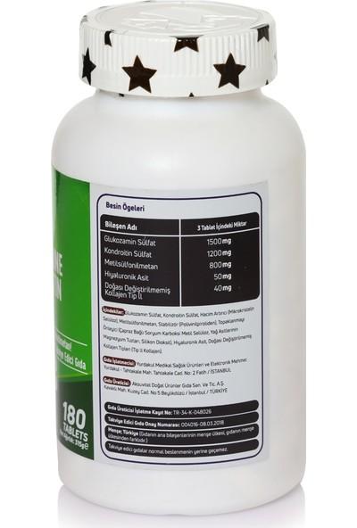 Mefa Naturals Glucosamine Chondrotion Msm Hyaluronic Asit Collagen Tip 2 180 Tablet