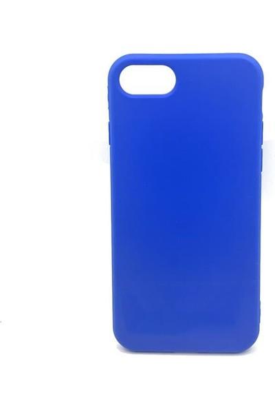 Zümrah Apple iPhone 7/8 Plus Şeker Silikon Kılıf Kapak Mavi