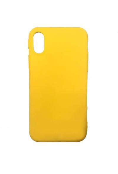 Zümrah Apple iPhone XR Şeker Silikon Kılıf Kapak Koruma Sarı