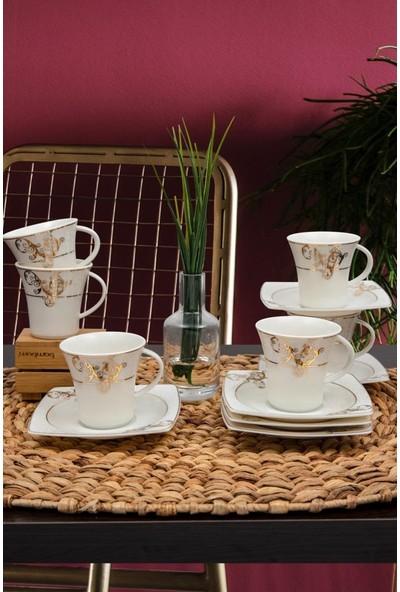 Güral Porselen Caroline Kahve Fincan Takımı 12 Parça GBSCR12KT8305430
