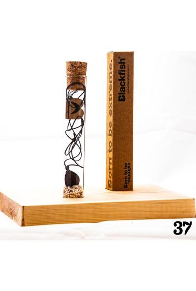 Blackfish Işlemeli Ceviz Ağacı Kolyeler / Walnut Tree Inlaid Necklace