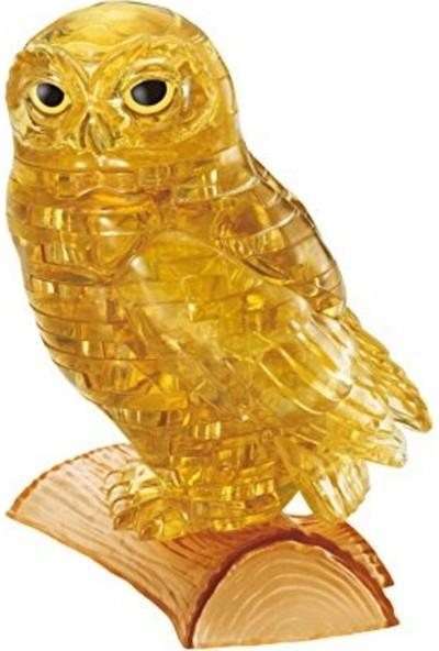 Crystal Puzzle Altın Sarısı Baykuş Standart Boy 3D Maket
