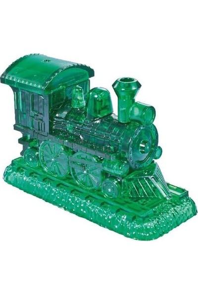Crystal Puzzle Buharlı Lokomotif Yeşil Standart Boy 3D Maket