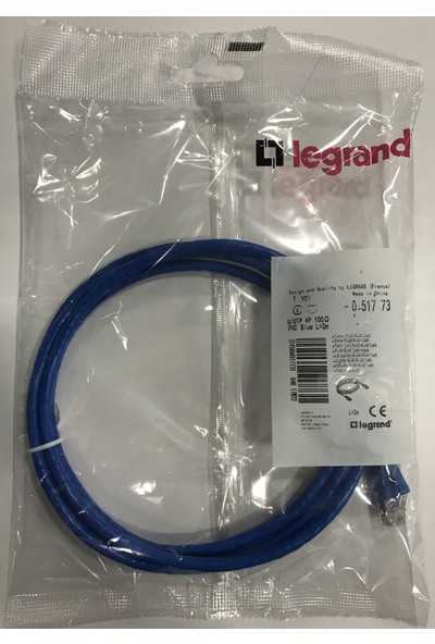 Legrand 051773 U/utp Cat6 RJ45 Patch Cord 2m