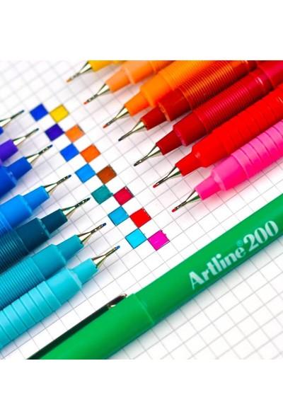 rtline 200 Fine Yazı ve Çizim Kalemi Renkli 0.4 mm 3'lü
