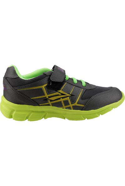 Lig Kronos Gri Yeşil Günlük Cırtlı Fileli Erkek Çocuk Spor Ayakkabı