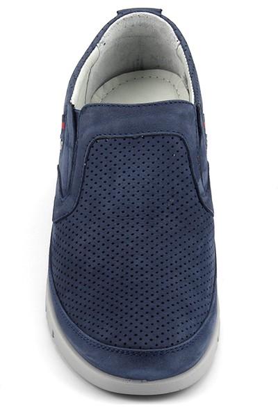 Scooter M5193 Mavi Jean Günlük Deri Konfor Erkek Ayakkabı