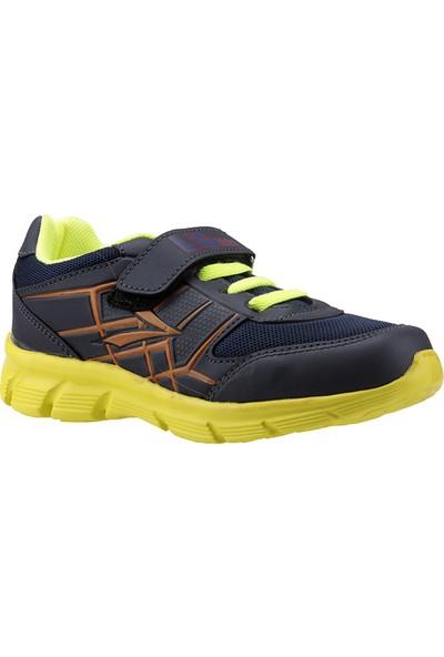 Lig Kronos Lacivert Sarı Günlük Fileli Erkek Çocuk Spor Ayakkabı