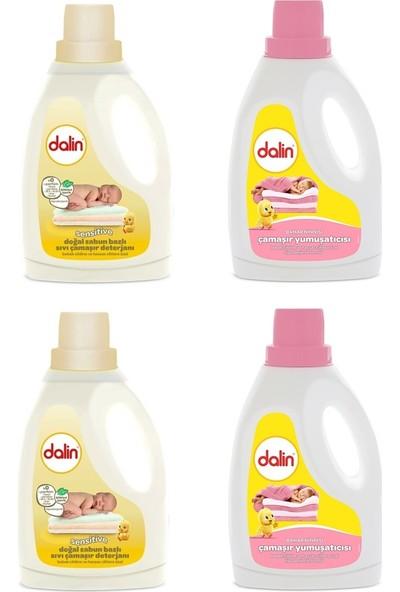 Dalin Doğal Sabun Bazlı Sıvı Deterjanı 1500 ml (2 ADET) + Dalin Sıvı Yumuşatıcısı Bahar Ninnisi 1500 ml (2 ADET)
