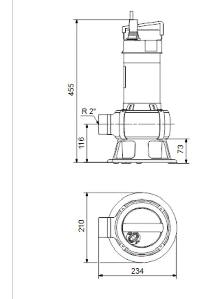Grudfos Unilift AP50B.50.11.3V-96468195 Dalgıç Atık Su Pompası