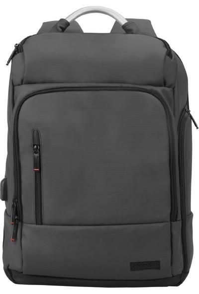 """Promate Trekpack-Bp 17.3"""" USB Şarj Portlu Laptop Notebook Sırt Çantası"""