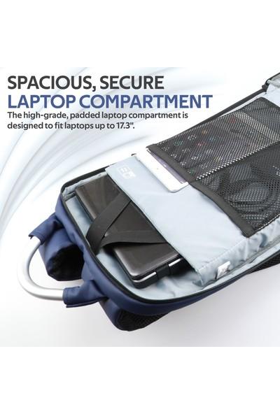 Promate Trekpack-Bp Notebook Laptop Sırt Çantası USB Şarjlı Suya Dayanıklı 17.3 inç