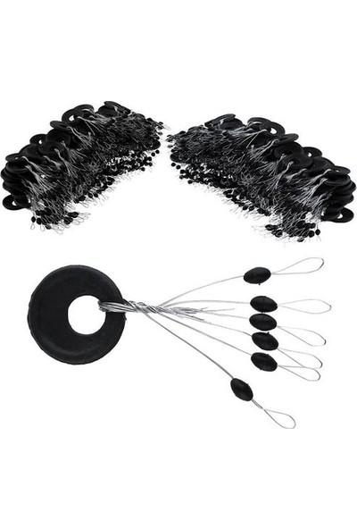 Powerex 50LI Paket Siyah Kauçuk Medium - Orta Boy Şamandıra Stoperi - 6lı