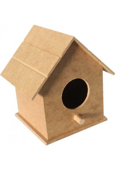 TYMCNC Ahşap BY0340 Boyanabilir Hobi Kuş Evi