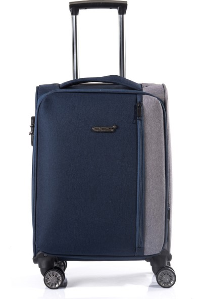 Ççs 417-1 Yağmura Dayanıklı Kumaş Büyük Boy Valiz, Bavul