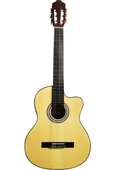 Barcelona LC 3922 Ceq T Naturel Elektro Klasik Gitar