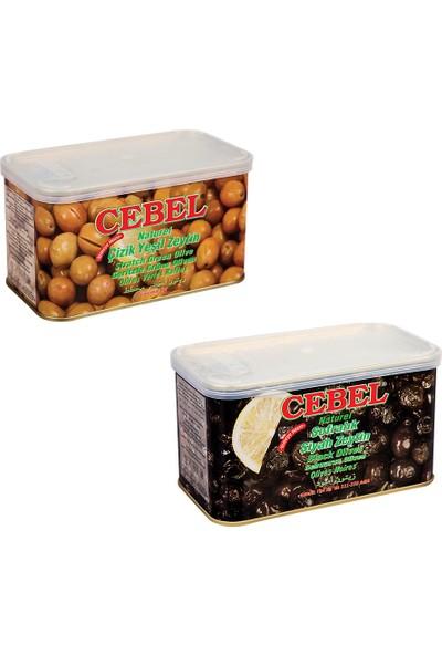 Cebel Gemlik Siyah Zeytin 750 gr ve Yeşil Zeytin 750 gr 2'li Paketi