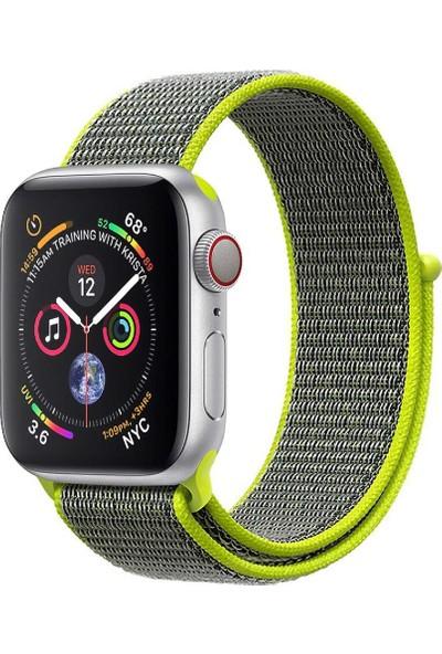 Promate Fibro-42 Apple Watch Saat Kordonu Naylon Örgülü Dokuma 42mm