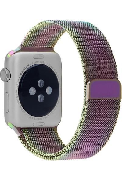 Promate Milous-38 Apple Watch Saat Kordonu Paslanmaz Çelik Mıknatıslı 38mm
