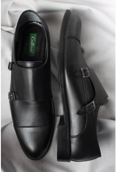 Cz London Çift Tokalı Klasik Ayakkabı Neolit