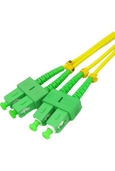 OEM Sc-Apc/sc-Apc Sm Dublex Fiber Optik Patch Cord Kablo 15 mt