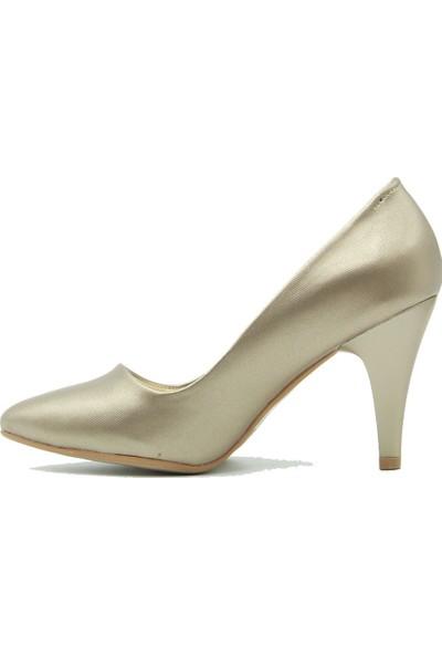 Arıcı Kadın Topuklu Ayakkabı 421 Altın