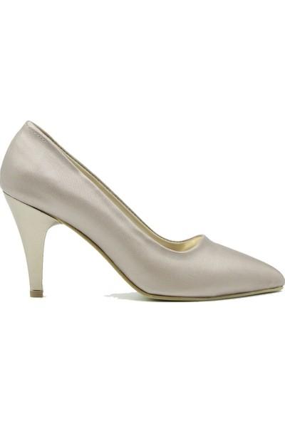 Arıcı Kadın Topuklu Ayakkabı 421 Platin