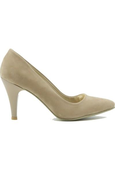 Arıcı Kadın Topuklu Ayakkabı 421 Ten Süet