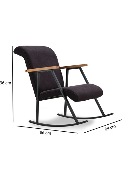Pafu Yoka Sallanan Sandalye Siyah