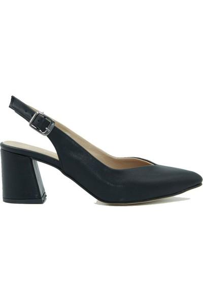 Park Moda Kadın Topuklu Ayakkabı 09-700 Siyah Cilt