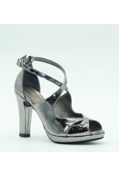 Tuğrul Ayakkabı Kadın Abiye Ayakkabı 104 Platin Ayna