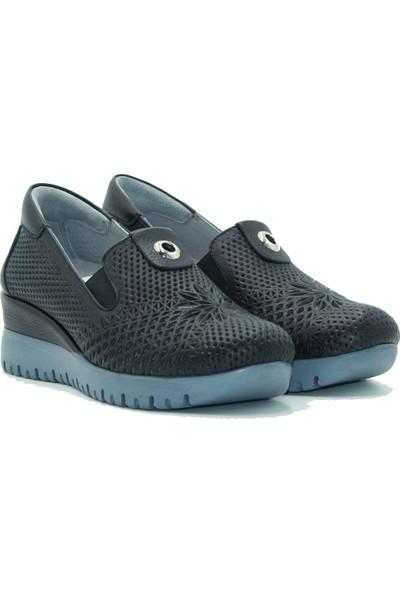 Turgutlar Stella Deri Kadın Günlük Ayakkabı 20363 Siyah