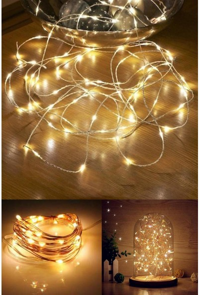 Magic Hobby Peri LED Işık Sarı Pilli 3 m + Küçük mandal 15'li