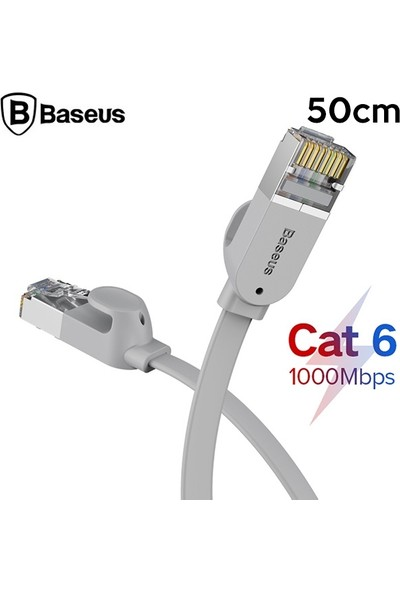 Baseus High Speed Six Types Of RJ45 Gigabit Ethernet Kablosu (Round Cable) 1 mt PCWL-G0G