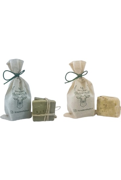F. Ç. Naturel Sabunlar Defne Sabunu ve Papatya Sabunu 2'li Paket