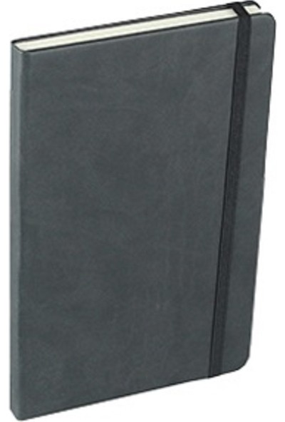 Termo Suni Deri Kapak Çizgili Not Defteri 13 x 21 cm Siyah