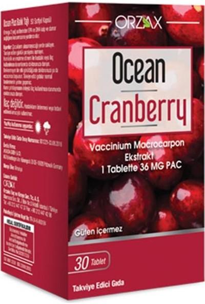 Orzax Ocean Cranberry Turna Yemişi Ekstresi (30 Tablet)