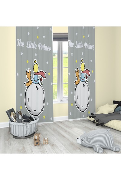 Bebişim Halı Küçük Prens Desenli BH2309 Fon Perde 70 x 260 cm