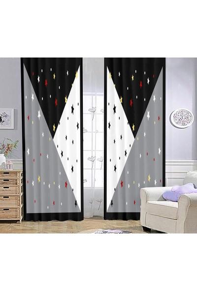 Bebişim Halı Yıldızlı Bİ79 Çocuk Odası Fon Perde 70 x 260 cm